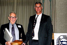 Brock Rosenthal with Walter Munk/SIO