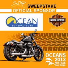 Harley Davidson Sweepstake Poster - Oceans, 2013, San Diego, CA