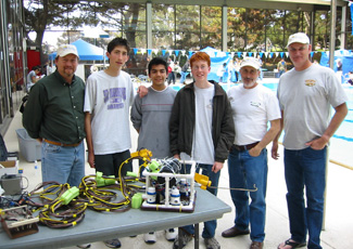 Judging MATE ROV competition 2007 with Sheldon Rubin/SeaBotix and Leonard Pool/Sidus
