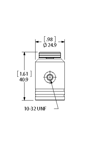 Vacuum/Fill Attachment dimensions