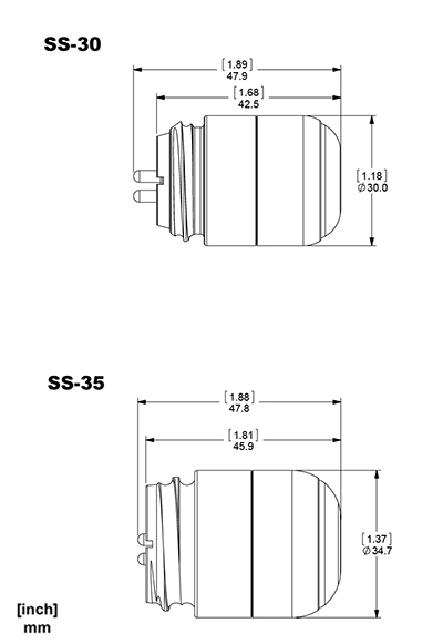 SS Series dimensions