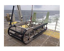 Sturdy stainless steel sleds designed to fly close to the sea-floor