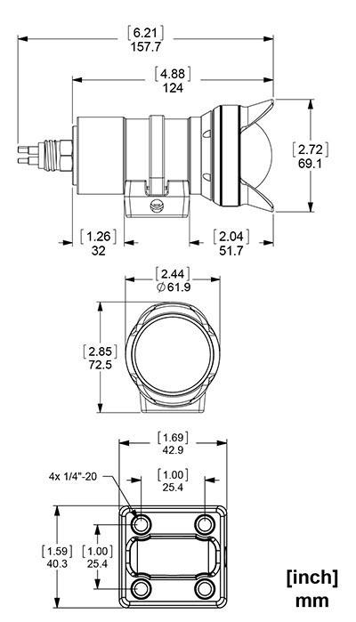 Low-Light SeaCam dimensions