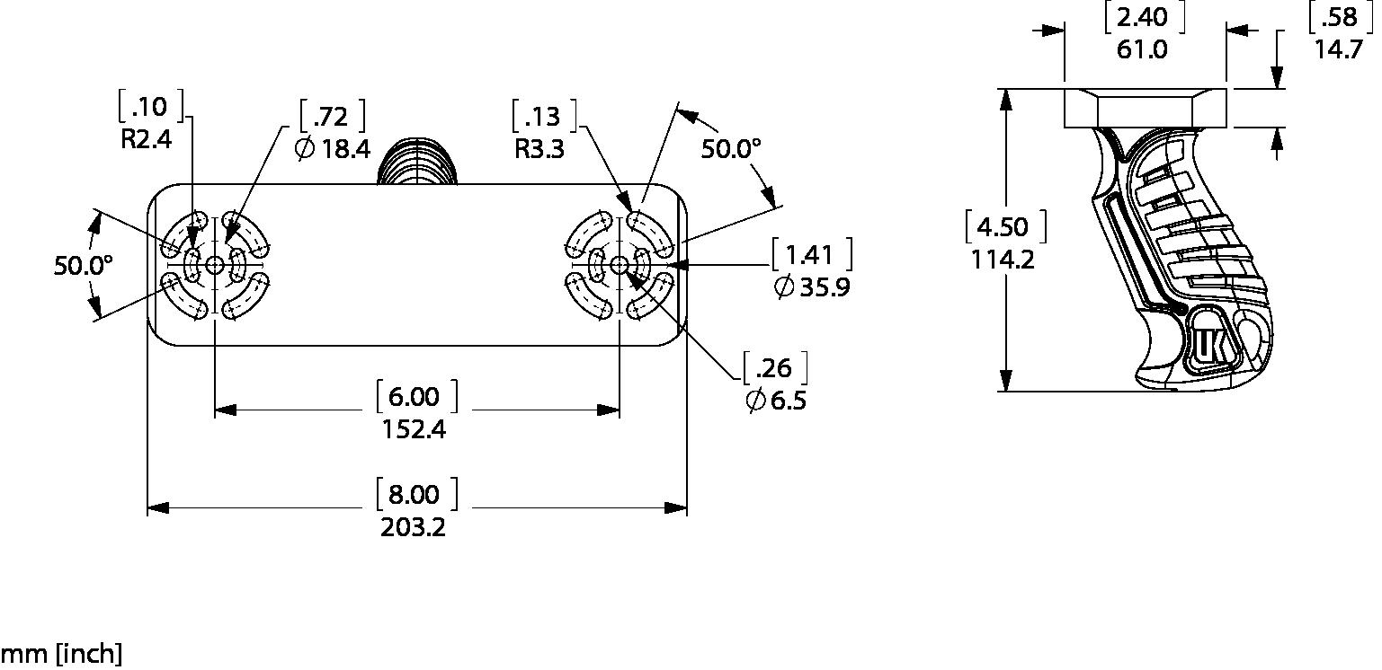DUAL-NANO-BRKT Line Drawing
