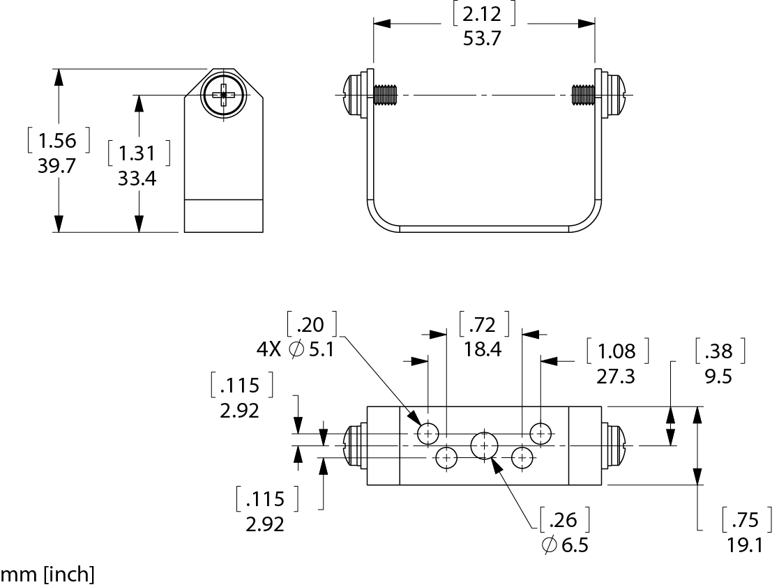 YMB-Small Bracket Line Drawing