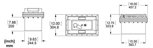 SeaBattery Power Module dimensions