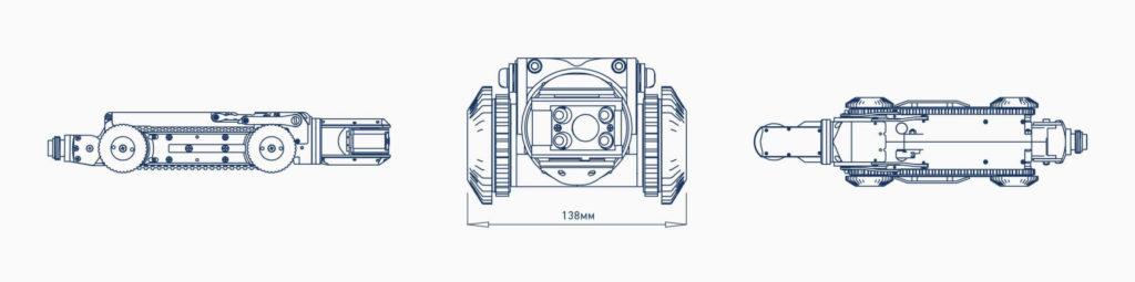 deep trekker dt320 mini pipe crawler wireframe